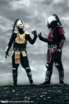 SEKTOR Y CYRAX by Calendario-Cosplay