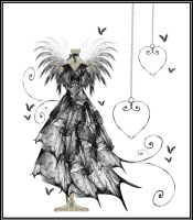 Gothic Bat Gown by rockgem