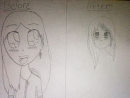 Before and After by JustTheGirlOnFire