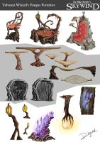 Skywind - Telvanni Wizard's Fungus Furniture by CentificGrafics