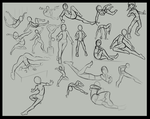 Figure drawing practice stuff by Reliusmax