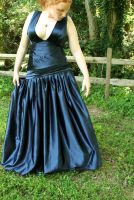 Midnight Pleated Prom 2009 by Phoenix-PAH