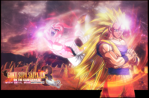 Ssj3 on the Kaioshinkai by brolyomega