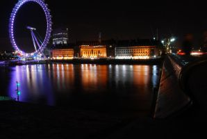 Westminster Bridge and the Eye by Simply-Simon