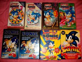 My Sonic VHS an DVD Collection by raverkidd