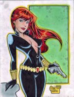 'Cartoon' Black Widow (#2) by Rodel Martin by VMIFerrari