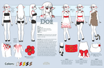 Doe Character Sheet Commission by Shattered-Earth
