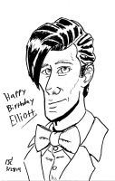 11th Doctor Who Birthday drawing by Infinity-Joe