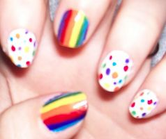 Rainbow Polka-Dots by HideTheKnives