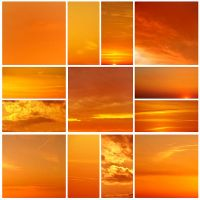 Sunset collage by Sintija