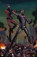 Antman vs Ultron colors by spidey0318
