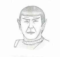 Characature- Spock by mllebienvenu