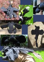 Toothless Plush Collage... by T-Nooler