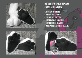 Sithy Feetpaw commission by FurryFursuitMaker