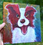 Acrylic Dog Painting by Nestly