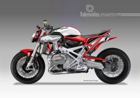 BIMOTA BB-4 S Cafe Fighter Concept # 4 by obiboi