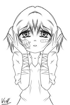Carlie as a Child, Bullied. ::UNCOLORED:: by keira092803