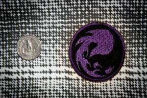 MTG Red Mana Merit Badge/Patch (In Purple) by Rae-Lynn