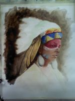 American indian Work In Progress 2 by CaterinaOrlando