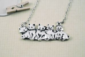 Kitten Necklace by MonsterBrandCrafts