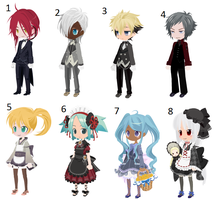 Maid and Butler Themed Free Selfy Adopts [CLOSED] by Vladimir-Valentine