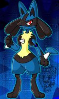 Keith, my Lucario by TheDocRoach