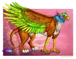 Colorful gryphon by FuzzyMaro