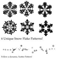 Snow Flake Brush Pack! by EpicMickeyX