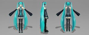 3D Miku progress I by wissy-j