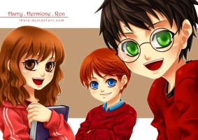 HP: Little Golden Trio by Iksia