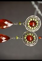 Carnelian earrings by IMNIUM