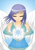 An ICE COLD Angel by NIGHTSandTAILSFAN
