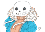 Undertale - Sans Copic Version by OoSanjinoO