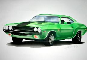 '70 Dodge Challenger by cyanidetictac