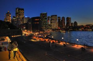 night of circular quay by nashkoor
