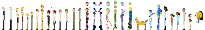 Rescue Bots sprites by burntuakrisp