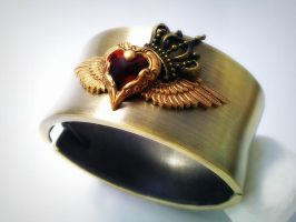 Queen of Hearts Cuff by sodacrush