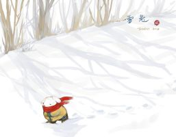 Bunny Travelling in Snowland by daydreamerre