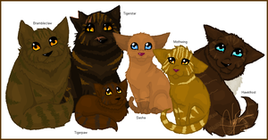 Family Portrait - Tigerstar by Shadowgaze