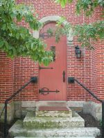Church Back Door by Rubyfire14-Stock