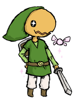 PKMNC Senri as Toon Link by SilkenCat