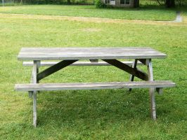 picnic table stock by WKJ-Stock