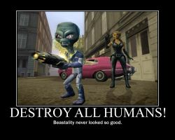 Destroy all Humans poster by ARTic-Weather