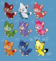 Wolf Pups Adoptables - OPEN by psychotic-basterd