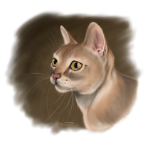 Cat Portrait - Speedpaint by Thilil