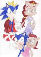 Rq: Sonic and Sally family by BlueSpeedsFan92