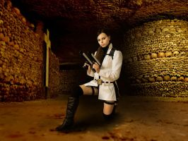 Tomb Raider Underworld Lara Croft white coat by DayanaCroft