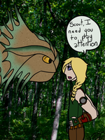 Carlson Scolding Scout by WiltingDaisy