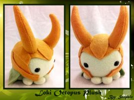Loki Octopus Plush by ValkyriaCreations