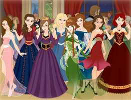 .:The Royal Ladies:. by thebigblackdevil5